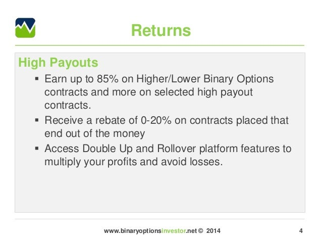 Binary options highest payout