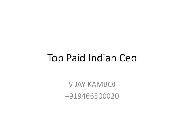 Top paid ceo