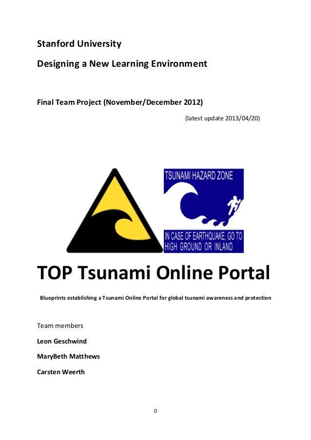 TOP Tsunami Online Portal Paper Blueprint