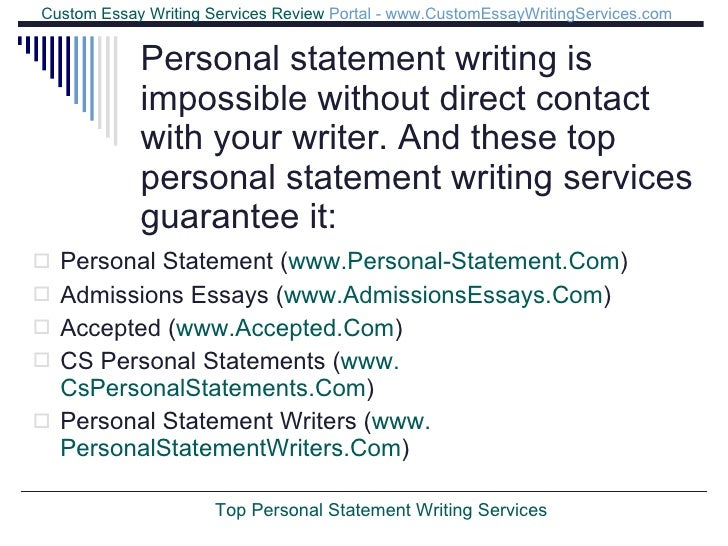Top personal statement writing services