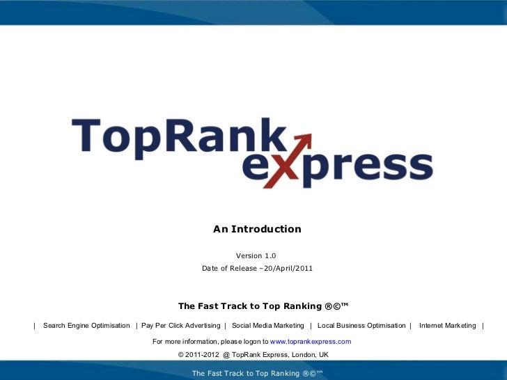 Top Rank Express SEO PPC Internet Marketing Company Profile v1 042011