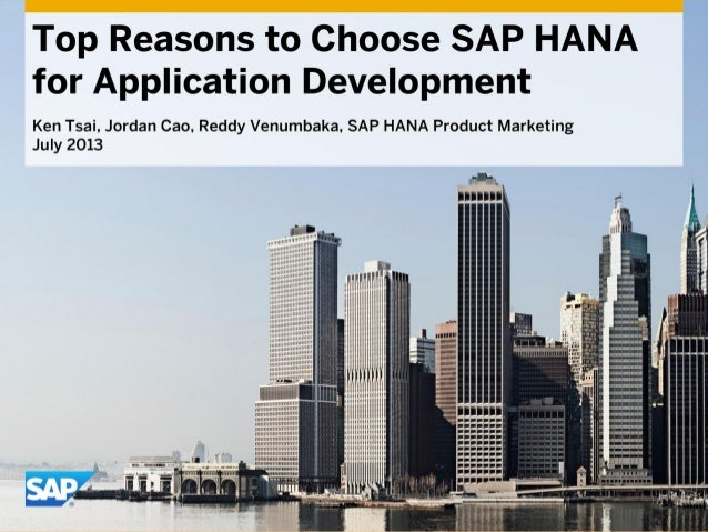 Top Reasons to Choose SAP HANA for Application Development