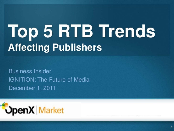 Top RTB Trends Affecting Publishers