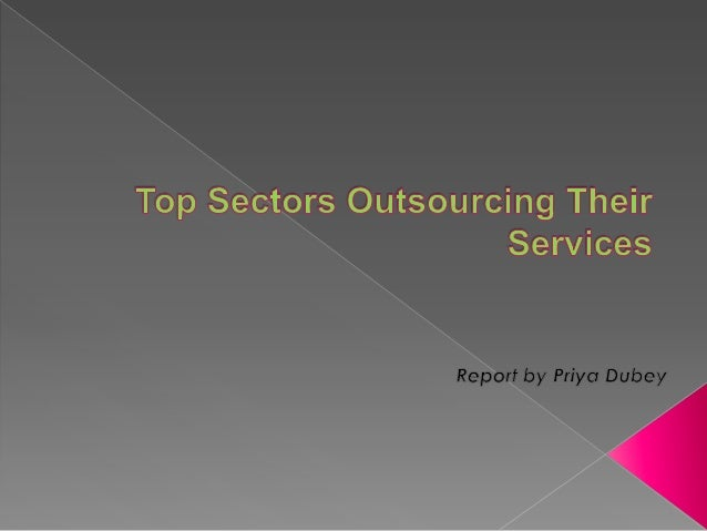 Top sectors outsourcing their services