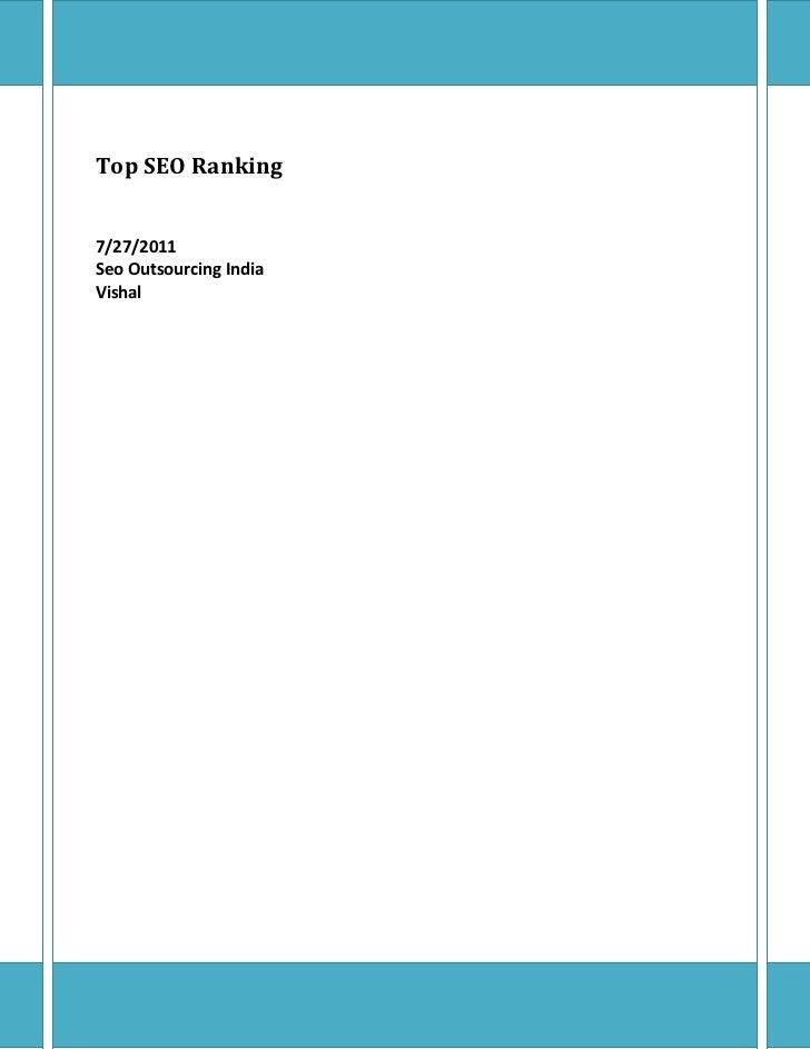 Top seo ranking