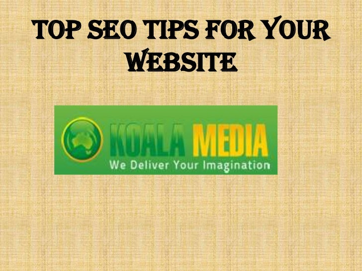 Top SEO Tips for your website<br />