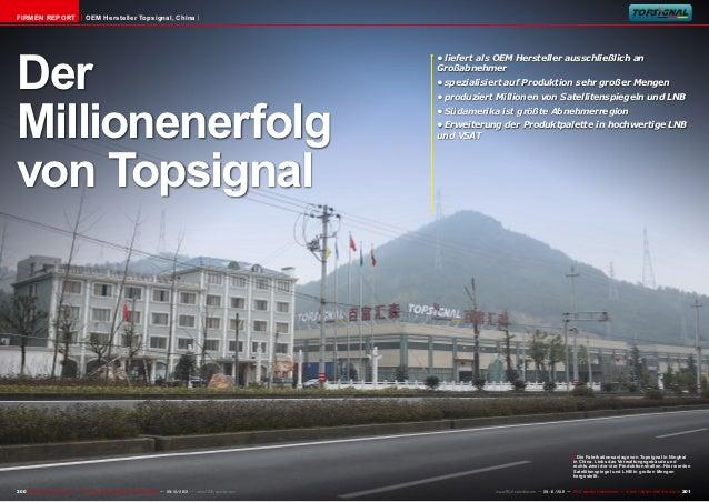 Firmen Report                        OEM Hersteller Topsignal, ChinaDer                                                   ...