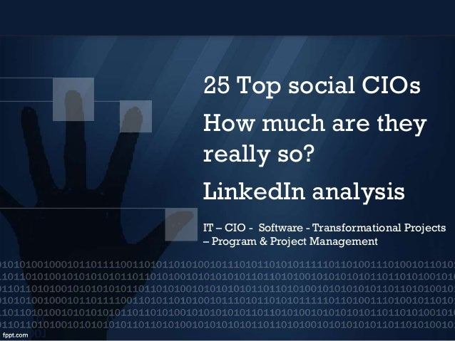 Top social CIOs LinkedIn analysis