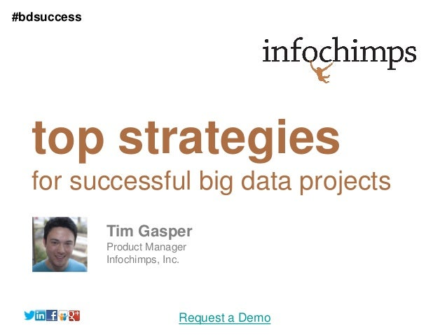 #bdsuccess  top strategies  for successful big data projects             Tim Gasper             Product Manager           ...