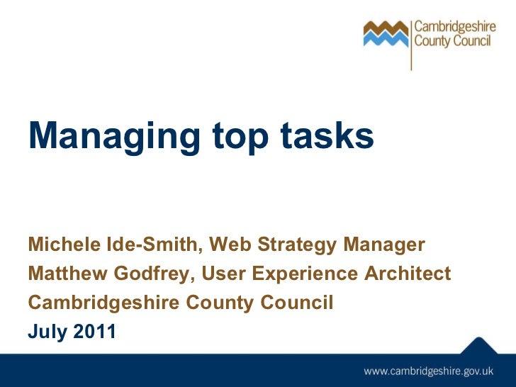 Managing Top Tasks