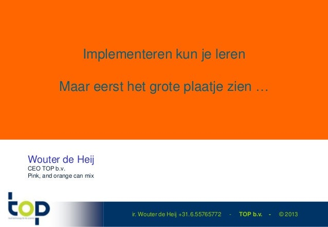 Top technology talks 2013 introductie - te Rosmalen FoodTech