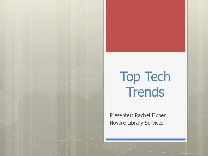 Top Tech Trends of 2012