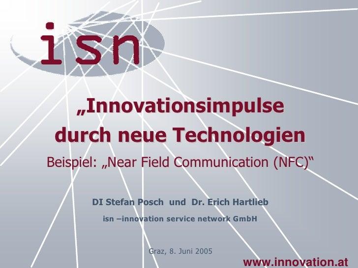 Vortrag Toptec 2005: Innovationsimpulse durch neue Technologien
