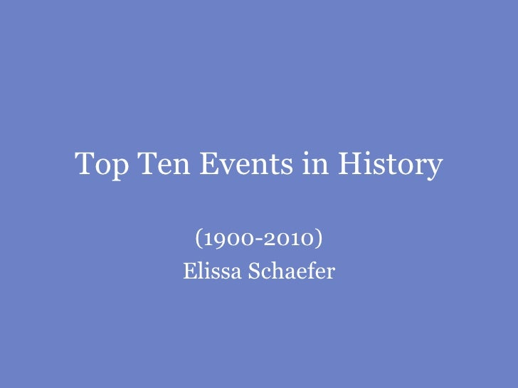Top ten events in history