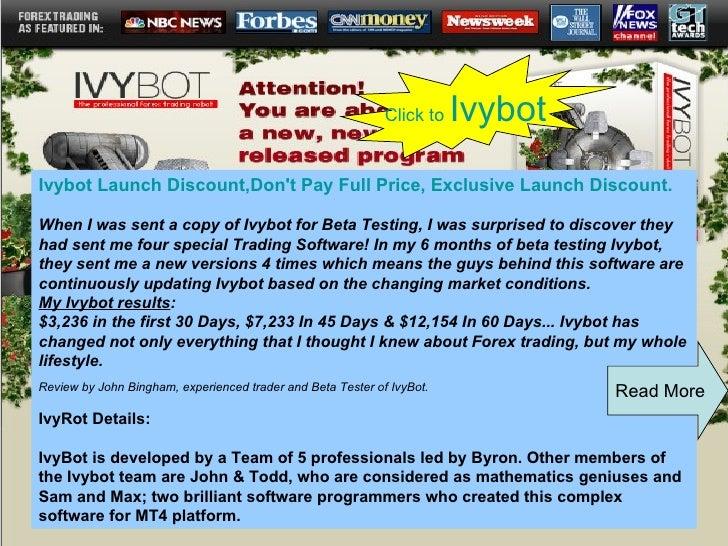 Top Ten Forex Experts Advisor   Ivy Bot Review   Ivy Bot Feedback