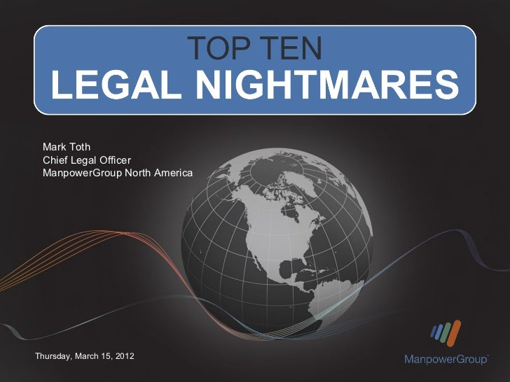 Top Ten Legal Nightmares