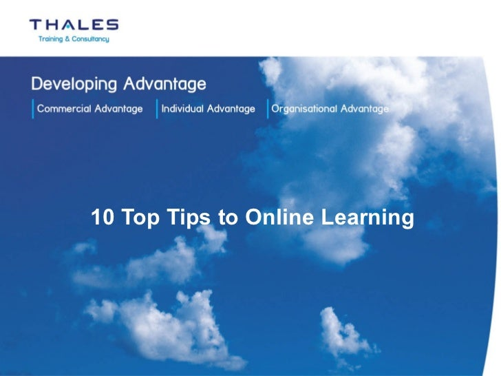 10 Top Tips to Online Learning