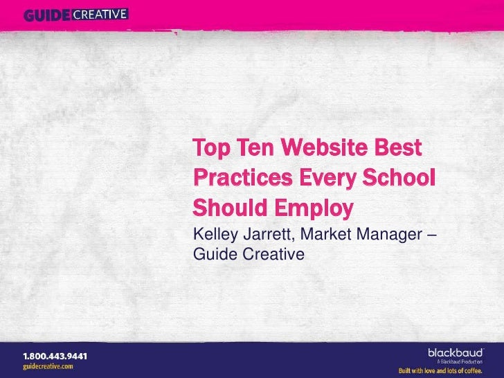 Top Ten Website Best Practices Every School Should Employ