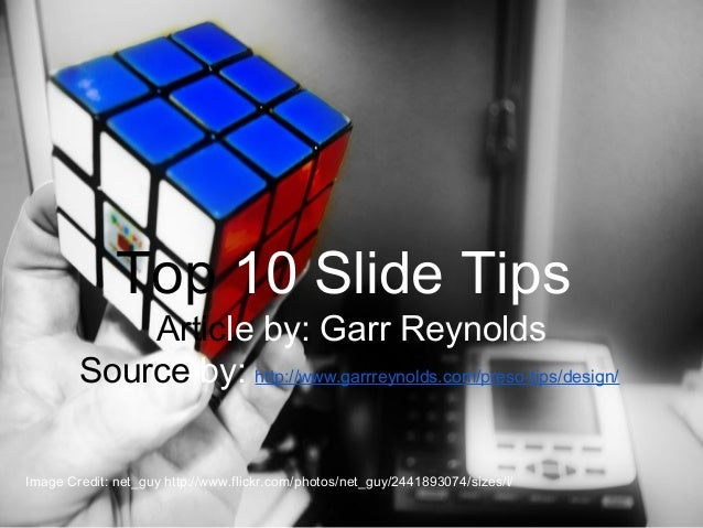 Top ten slide tips