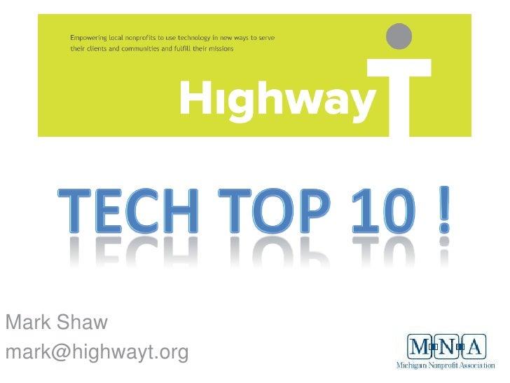 Top Ten Tech