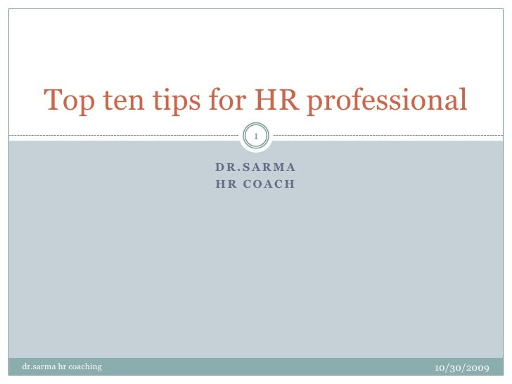 Top Ten Tips For Hr Professional