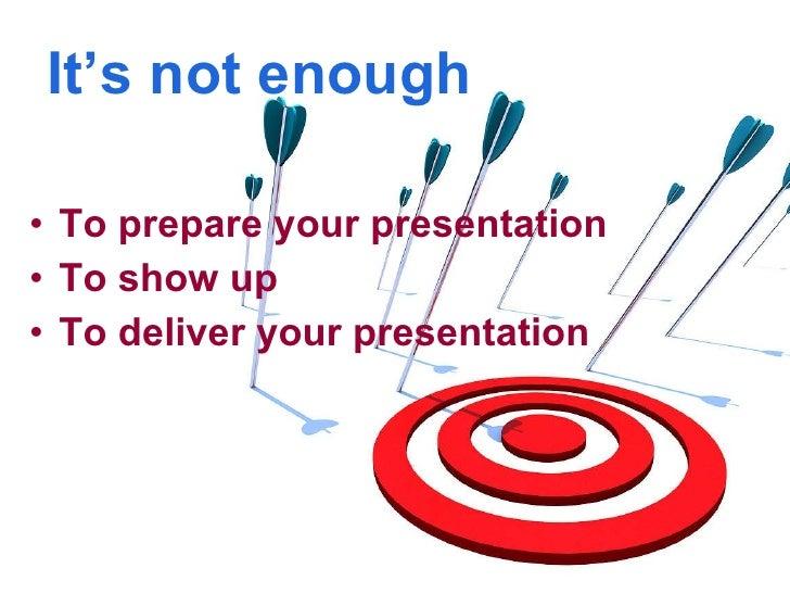Presenting presentation