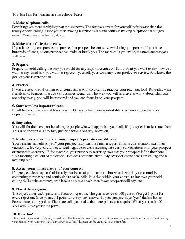 Top Ten Tips For Terminating Telephone Terror