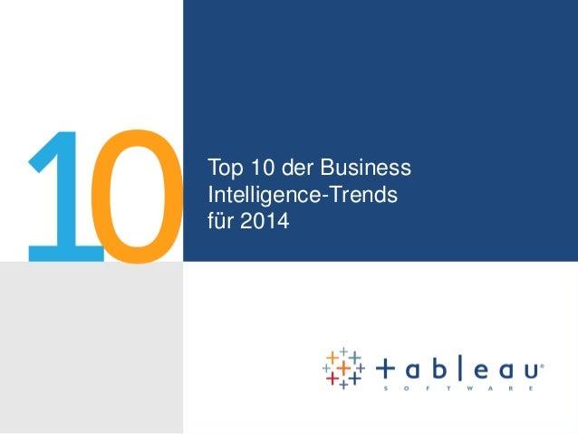 Top 10 der Business Intelligence-Trends für das Jahr 2014