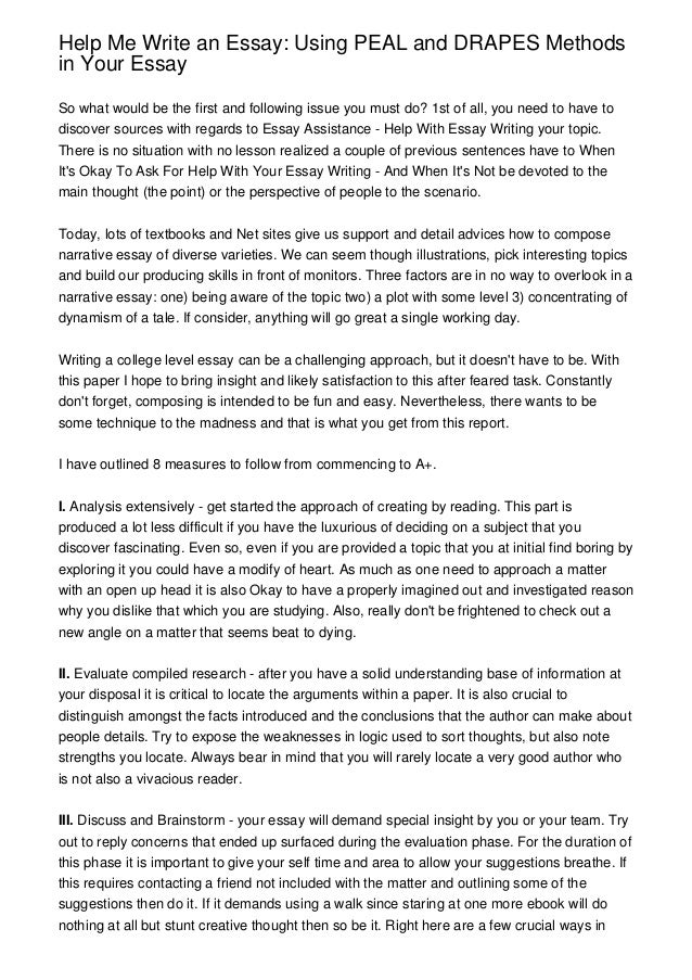 Can anyone help me with my college personal essay?