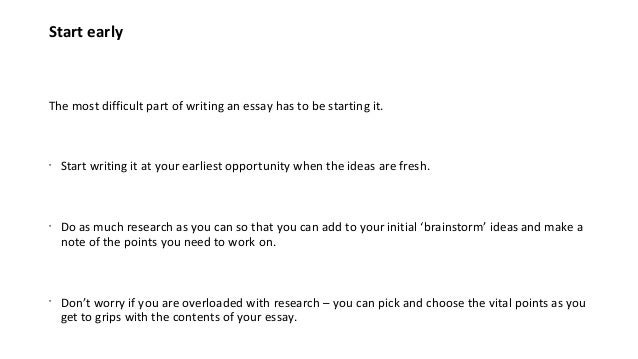 Part time essay writer