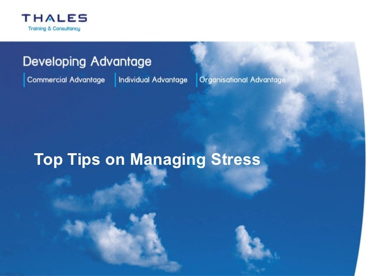 Top tips for managing stress 181111
