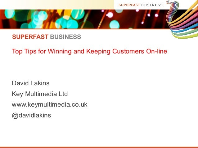 Superfast Business - Winning and keeping customers online (Dorset)