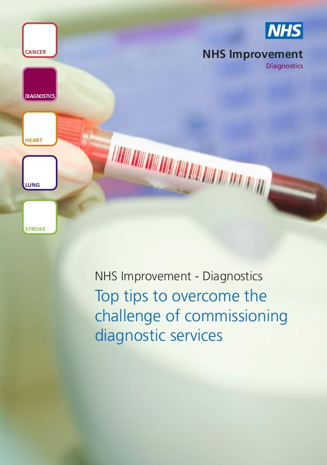 Top tips to overcome the challenge of commissioning diagnostic services