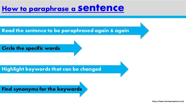 Website to paraphrase sentences