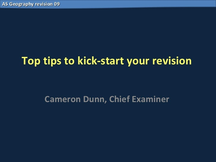 Top Tips To Kick Start Your Revision