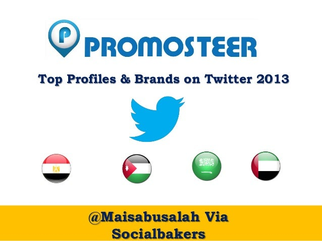 Twitter's Top Profiles and Brands in KSA, UAE, Jordan & Egypt - 2013