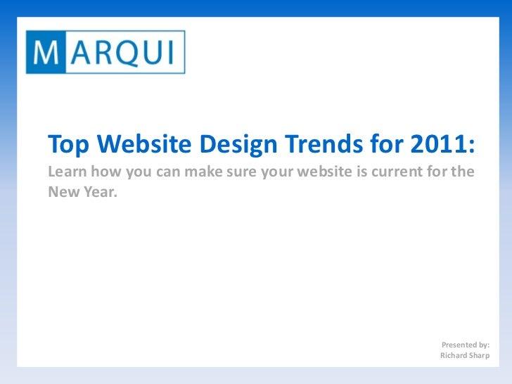 Top Website Design Trends 2011