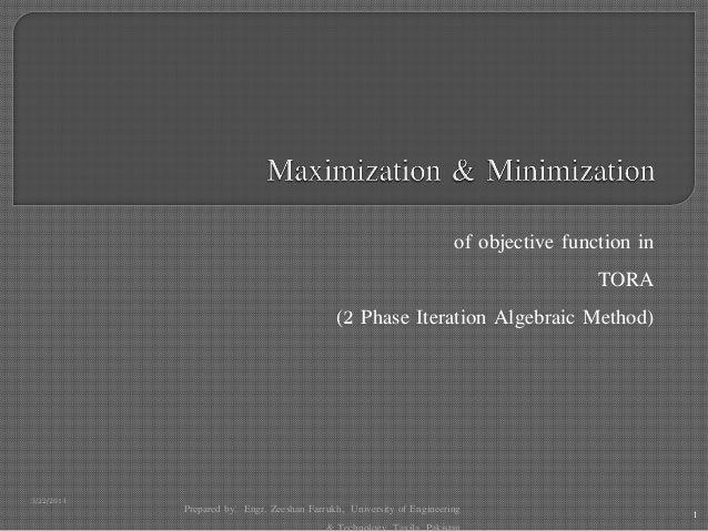 Tora (2 phase itteration, simplex method)