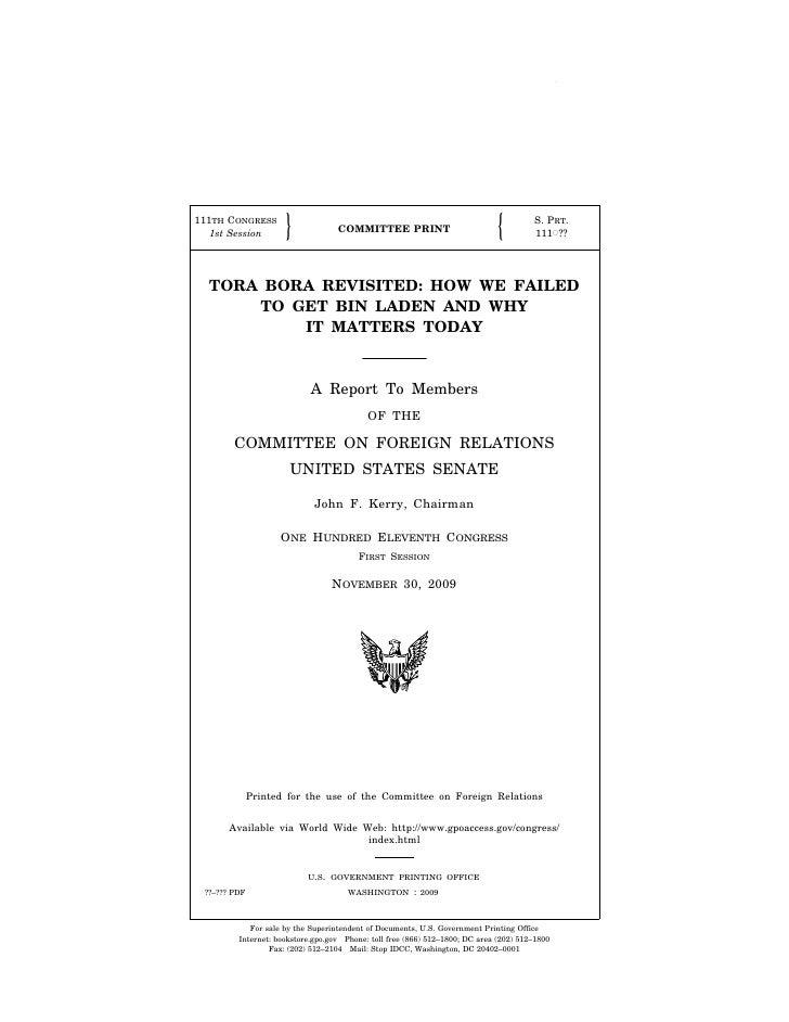 Tora Bora Report