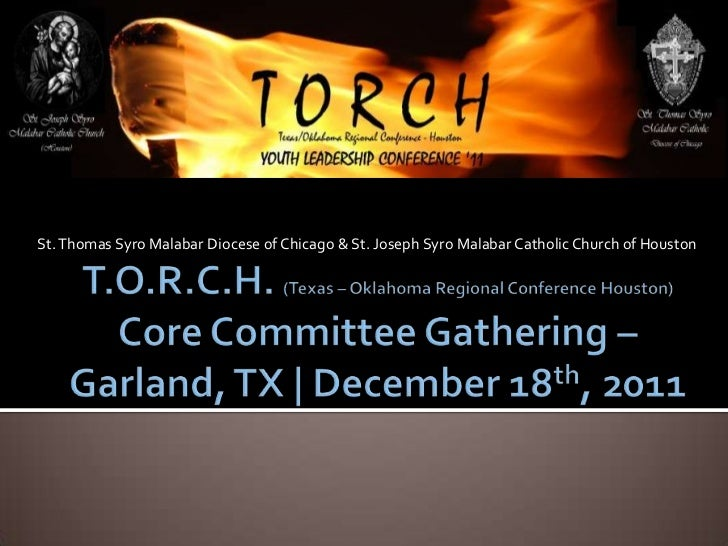 TORCH Committee Presentation 2/18/2011 (Notes)