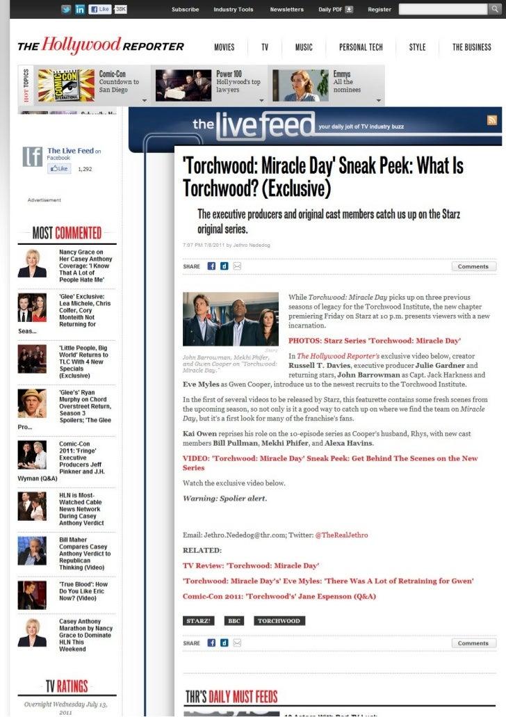 'Torchwood: Miracle Day' Sneak Peek: What Is Torchwood? (Exclusive)