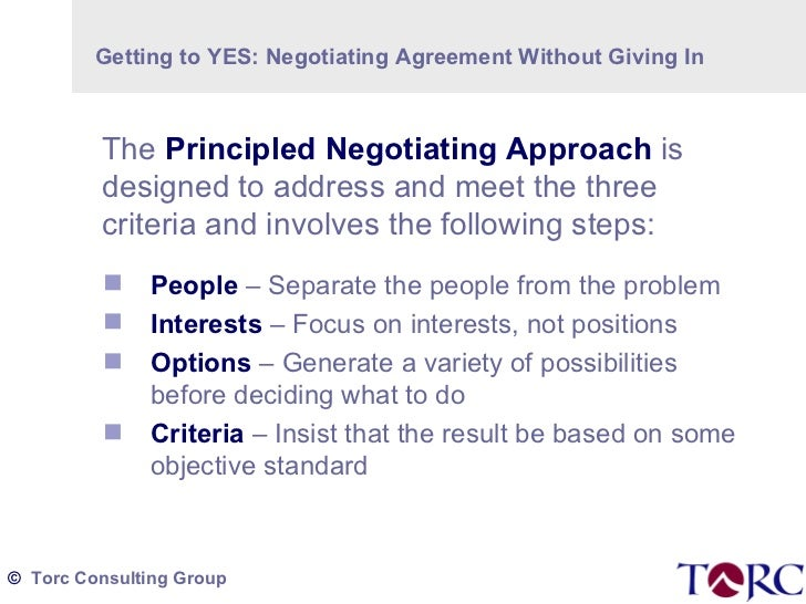 negotiating agreement without giving in pdf
