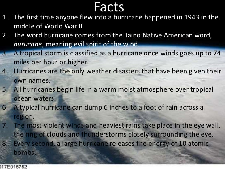 Interesting Facts About Hurricanes For Kids