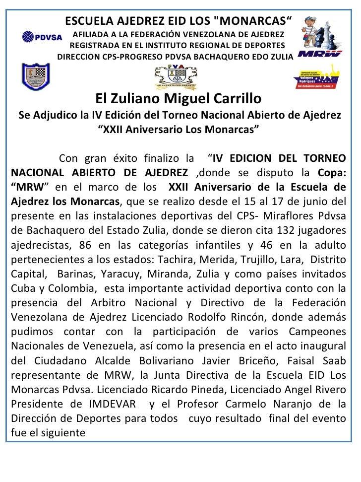 Torneo de MRW en Bachaquero