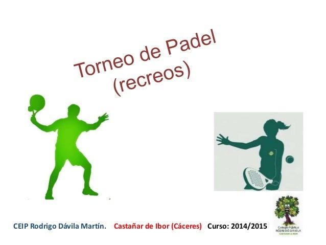 CEIP Rodrigo Dávila Martín. Castañar de Ibor (Cáceres) Curso: 2014/2015