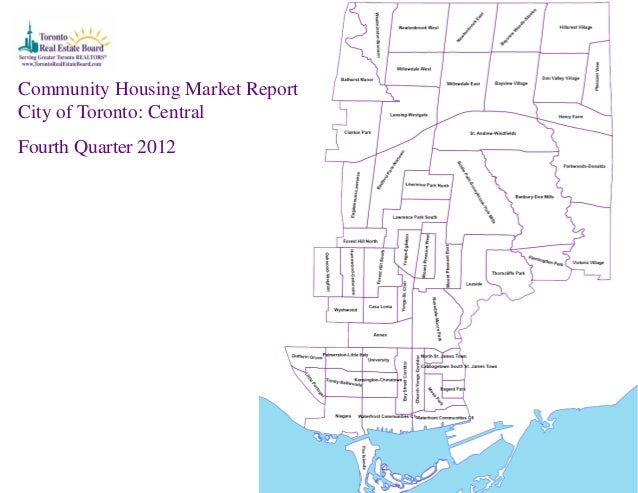 Toronto Central Community Market Charts for the 4th Quarter 2012