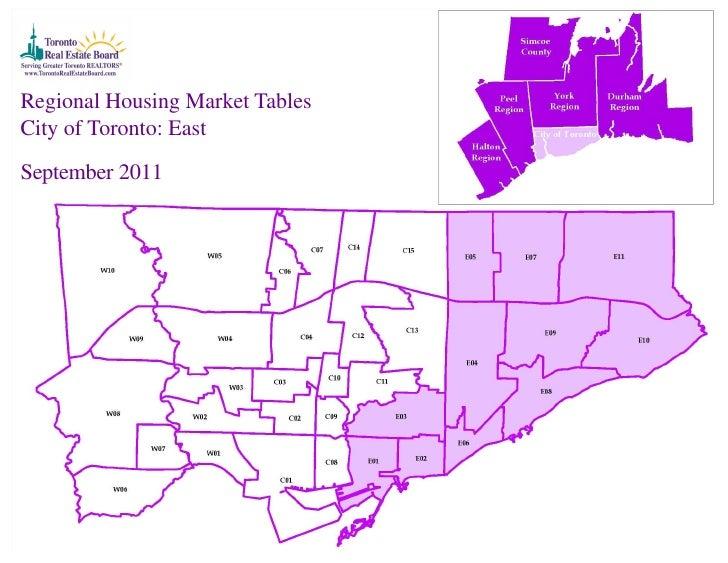 Regional Housing Market TablesCity of Toronto: EastSeptember 2011