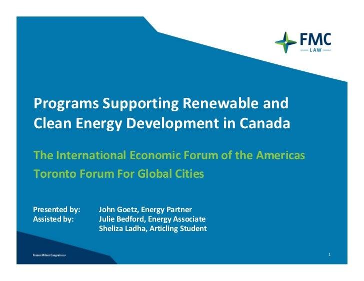 Toronto forum for global cities presentation