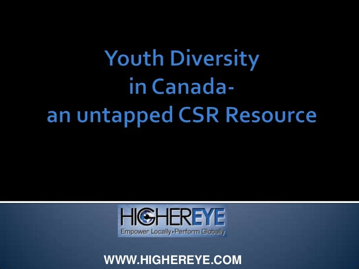 Corporate Social Responsibility and Youth