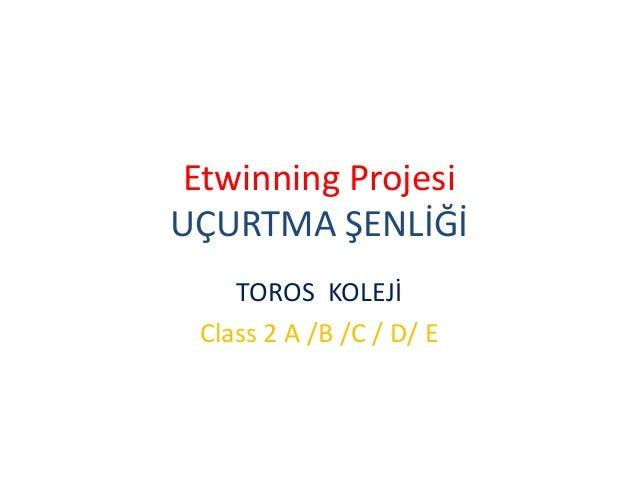 Etwinning Projesi UÇURTMA ŞENLİĞİ TOROS KOLEJİ Class 2 A /B /C / D/ E
